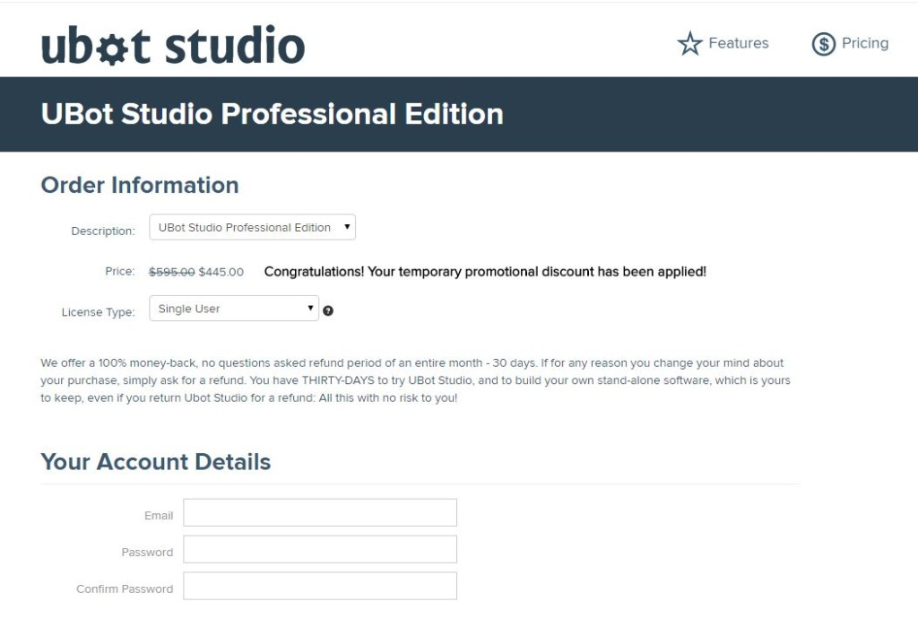 Ubot Studio 25% OFF Professional Edition
