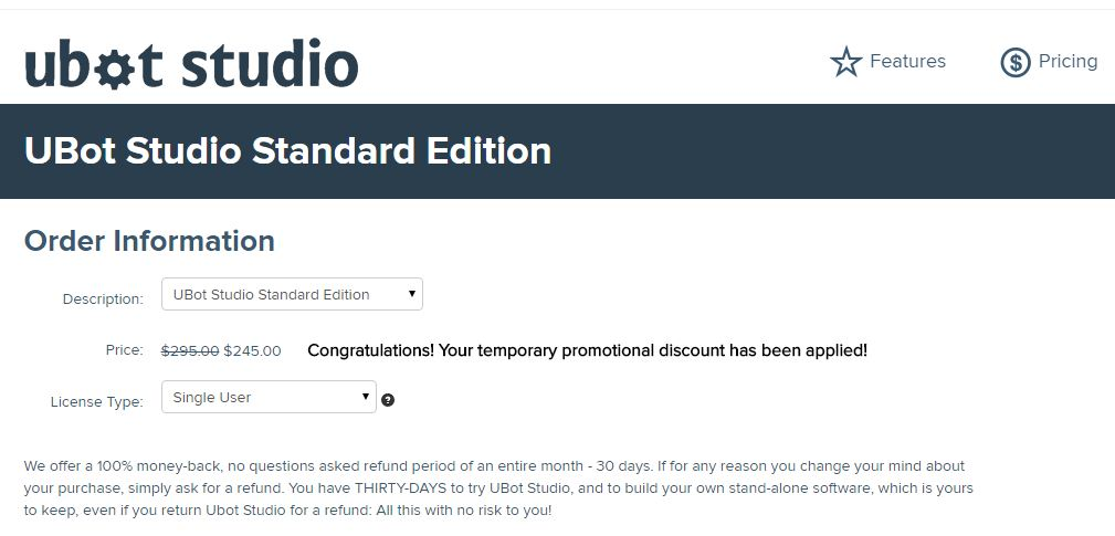 Ubot Studio Coupon 17% OFF Standard Edition