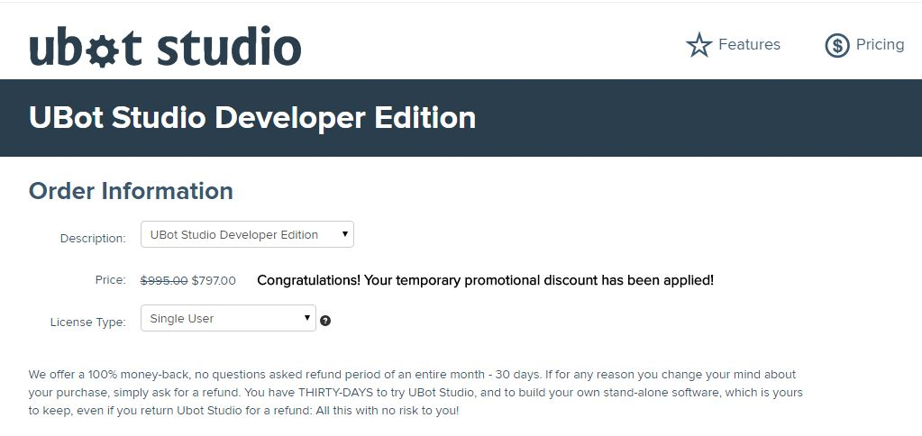 Ubot Studio Coupon Code Get 20% Off Developer's Edition
