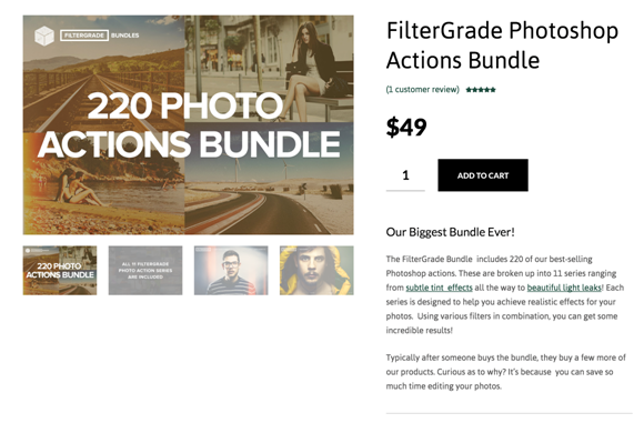 filtergrade review - FilterGrade Photoshop Actions Bundle
