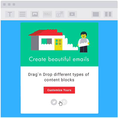Mailigen Review - Key features - Drag and Drop