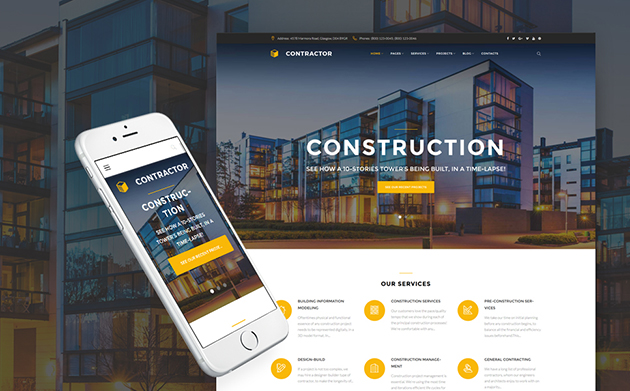 Contractor - Building Company WordPress Theme