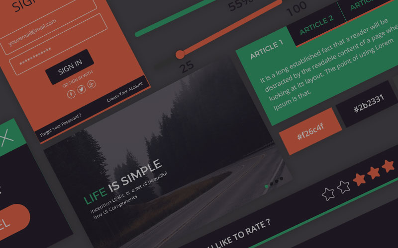 Top 10 Incredible Freebies For Web Designers and Developers - A Top UI Kit – Free